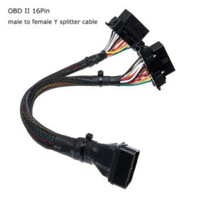 16Pin OBD2 Male to Female Y Splitter Extension Cable