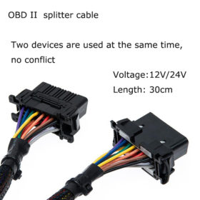 16Pin OBD2 Male to Female Y Splitter Extension Cable3