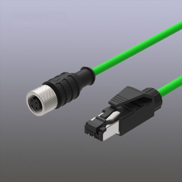 M12 4Pin to RJ45 Ehternet cable