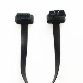 OBD2 male to female flat ribbon cable